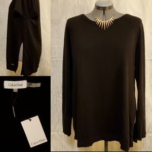 NWT Calvin Klein Sweater with Side Slits